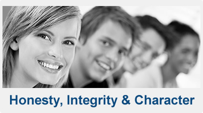 Honesty, Integrity, Character